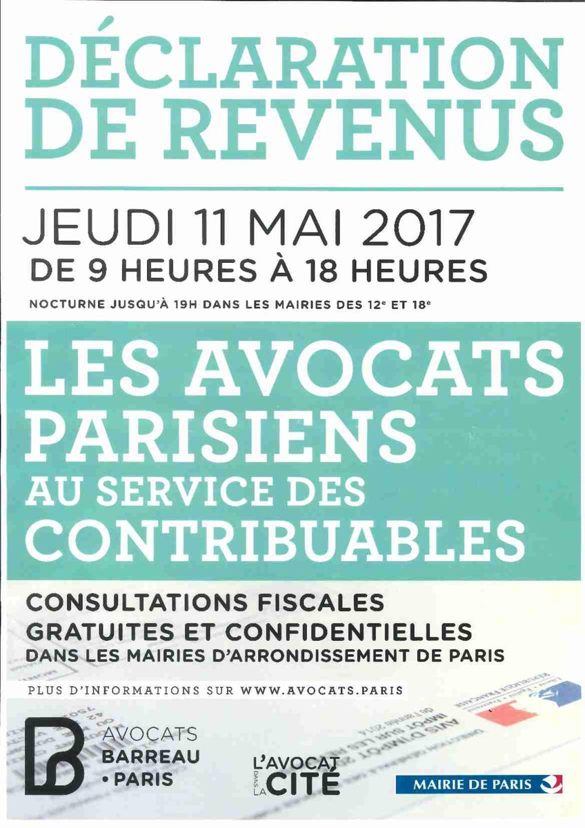 Consultations fiscales / Mairies d'arrondissement de Paris
